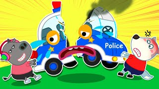 Wolfoo Learns to Share Police Car Toy with Friends | Wolfoo Family Kids Cartoon