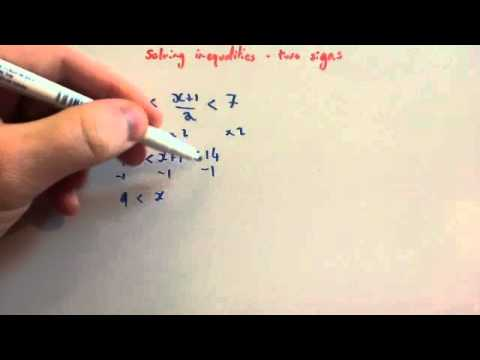 Solving Inequalities With Two Signs Corbettmaths Youtube