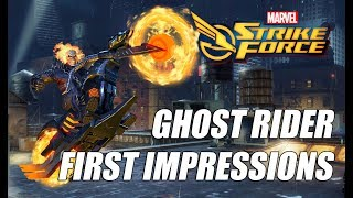 Ghost Rider Rank up, First Impressions & Gameplay - Marvel Strike Force