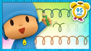 ✏️ POCOYO in ENGLISH - Pre-writing Activities [95 min] | Full Episodes |VIDEOS and CARTOONS for KIDS