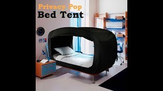 Privacy Pop Bed Tent for Better Sleep (www.maqaami.com)