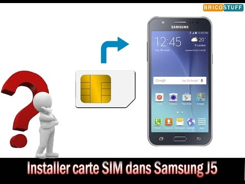 comment installer carte sim et carte micro sd sur un smartphone samsung galaxy j5 youtube. Black Bedroom Furniture Sets. Home Design Ideas