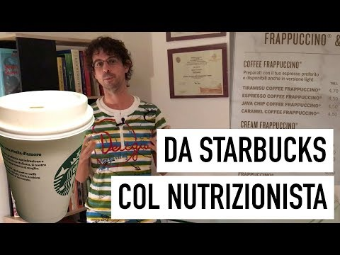 Starbucks, un'occhiata 'nutrizionale' al menu italiano
