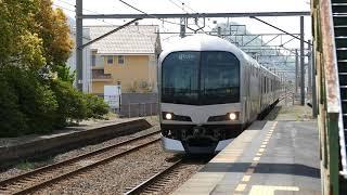 【高松行きマリンライナー編】鬼無駅にて桃太郎電鉄石像と通過列車 その5