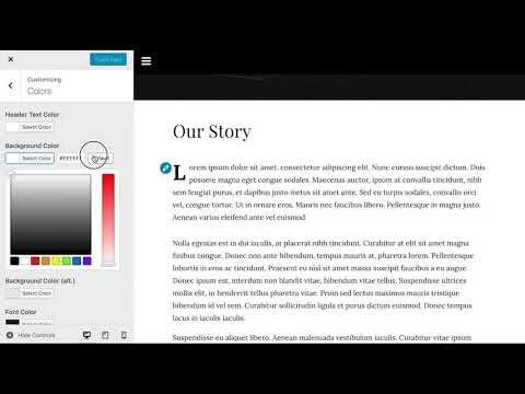 Demo: Consistent WordPress styles across frontend, Customizer, Gutenberg