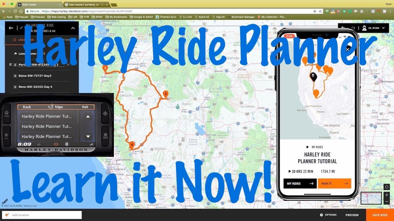 How To Use New Harley Ride Planner Online Software Smart Phone App