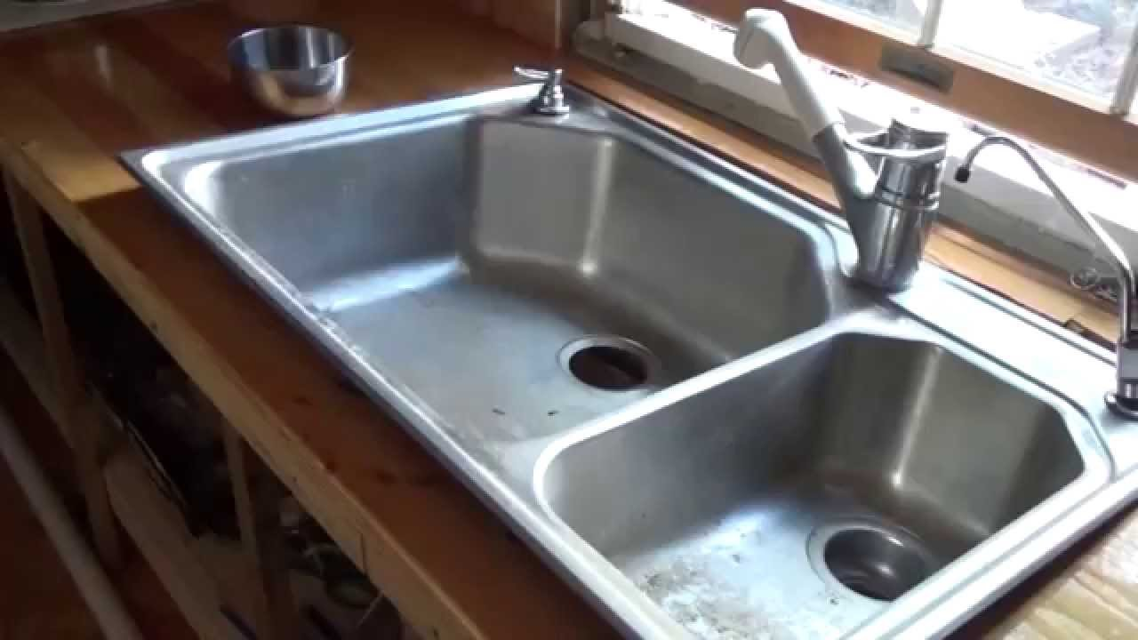 Installing the kitchen plumbing in my tiny house o35 youtube installing the kitchen plumbing in my tiny house o35 the do it yourself world solutioingenieria Gallery