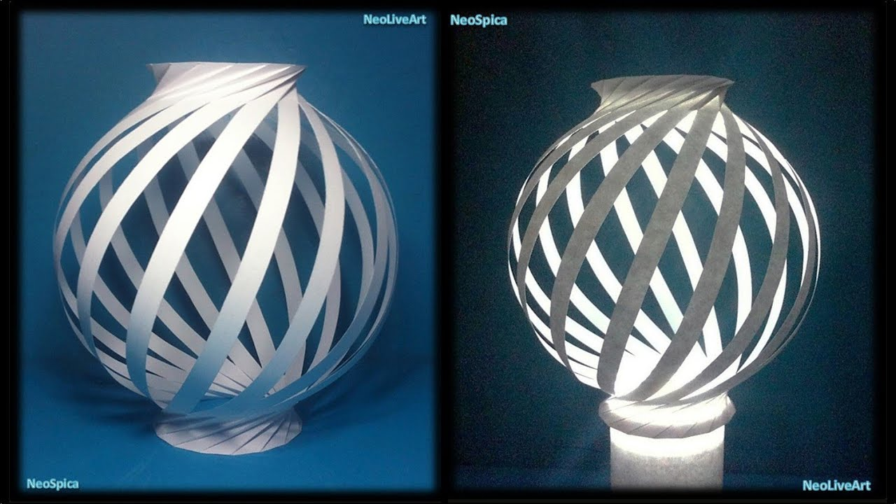 paper lamp ball twist spiral 1 youtube