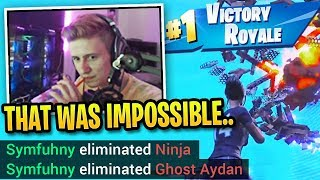 Symfuhny REACTS to IMPOSSIBLE Win After DESTROYING Ninja & Ghost Aydan!