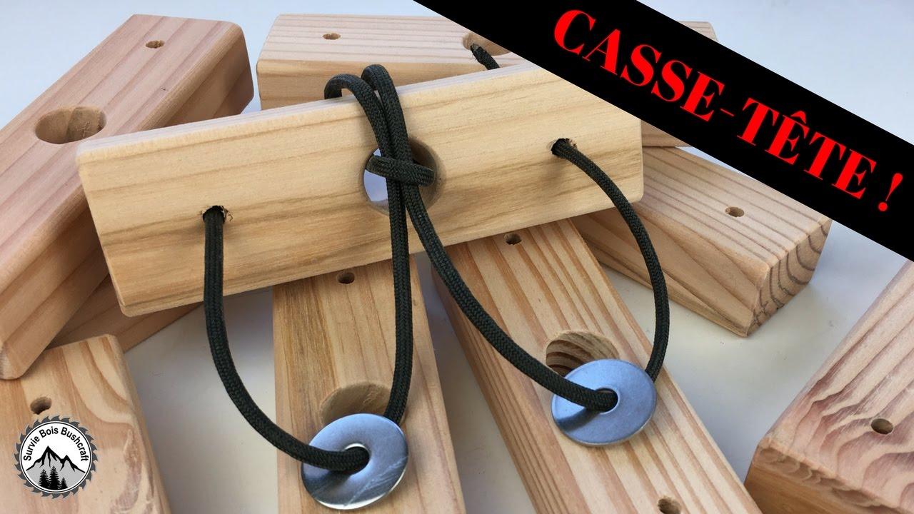 Fabrication d 39 un casse t te en bois simple fabriquer for Fabriquer un portillon en bois