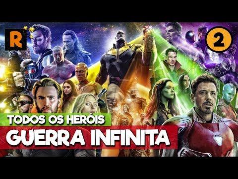 LIVE 2: Conheça todos os personagens de Vingadores: Guerra Infinita #Rapadura100k