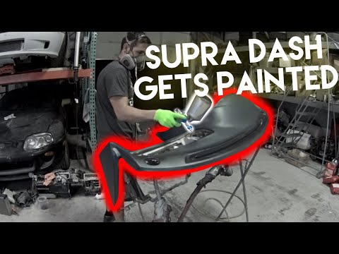 Supra dash SUCKS! How to paint the dashboard in your car!