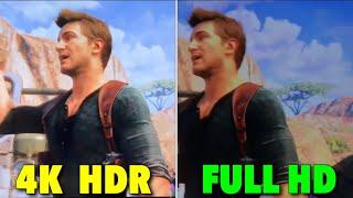 COMPARAÇÃO DO HDR - TV 4K E TV FULL HD .
