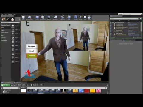 Unreal Engine 4 - Augmented Reality Virtual Mirror TEST