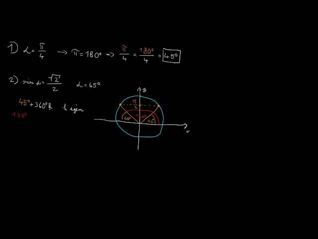 Szögfüggvényekkel kapcsolatos feladatok 1