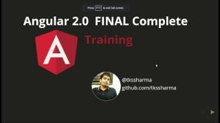 Angular 2.0 FINAL Training