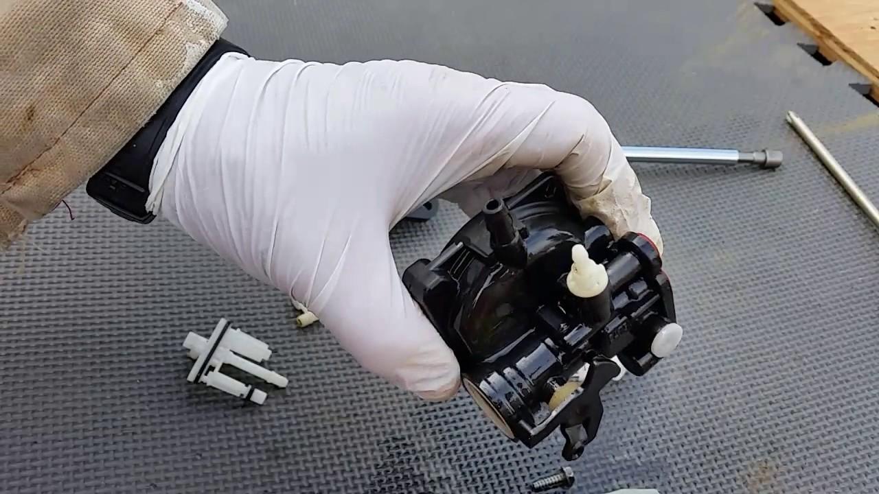 New plastic carburetor  easy cleaning parts teardown