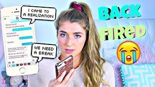 Texting Lyric Prank On Boyfriend Backfires....Break up!