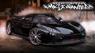 NFS Most Wanted | Koenigsegg CCX Mod Gameplay [1440p60]