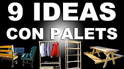 9 ideas con palets de madera