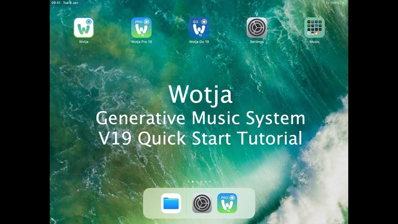 Wotja Generative Music App | iOS tvOS macOS Windows Android