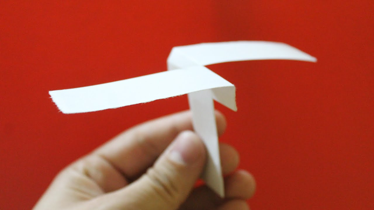 How do you fold a paper helicopter