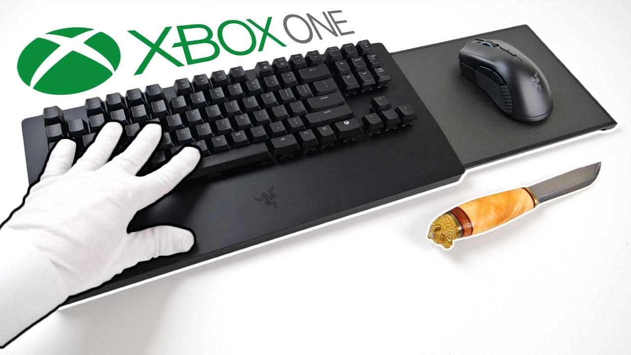 Xbox One Official Keyboard And Mouse Rip Controllers Unboxing Razer Turret Fortnite Avengers Youtube