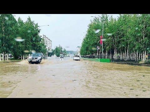 Как большая вода в Нягани превратила полгорода в блогеров