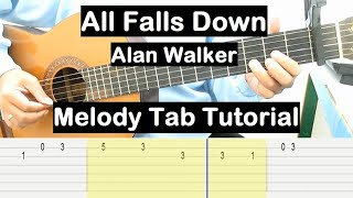 All Falls Down Guitar Lesson Melody Tab Tutorial Guitar Lessons for Beginners