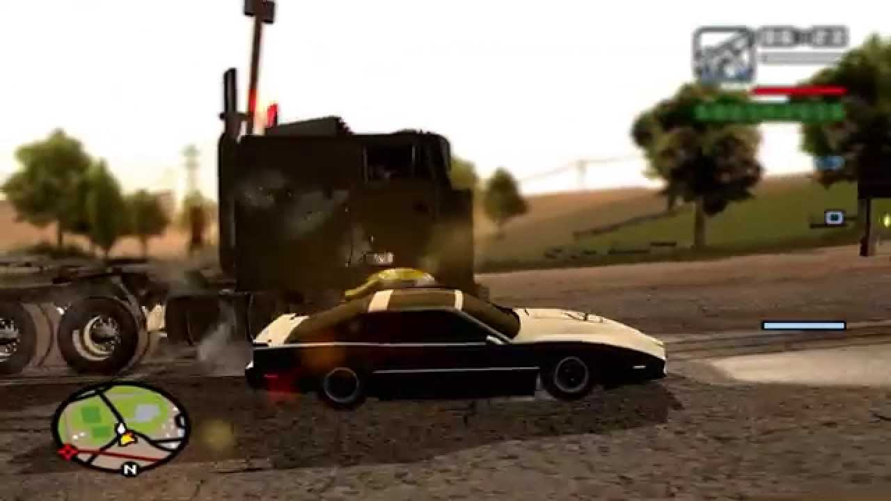 GTA San Andreas Mods - Knight Rider: KITT Vs  Goliath with Trailer