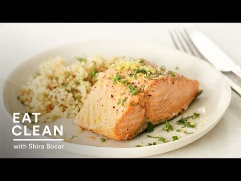 Steamed Salmon With Fresh Herbs And Lemon - Eat Clean With Shira Bocar