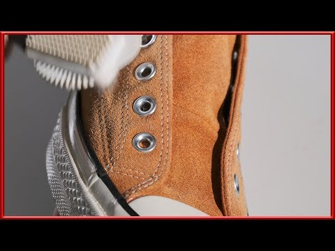 [ASMR] Clean & restore 'Converse' chuck taylor 1970s orange suede