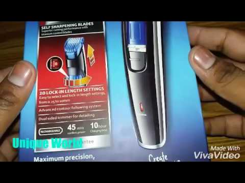 Nova Professional Trimmer NHT-1085 Unboxing