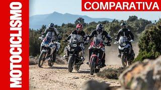 Comparativa BMW R 1250 GS e Adventure vs Honda Africa Twin 1100 e Adventure Sports [ENGLISH SUB]