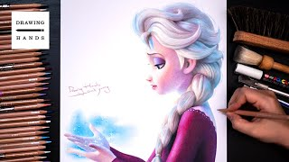 Drawing Frozen2 - Elsa, Into the Unknown [Drawing Hands]