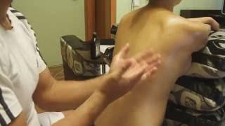 массаж спины беременным в положении сидя