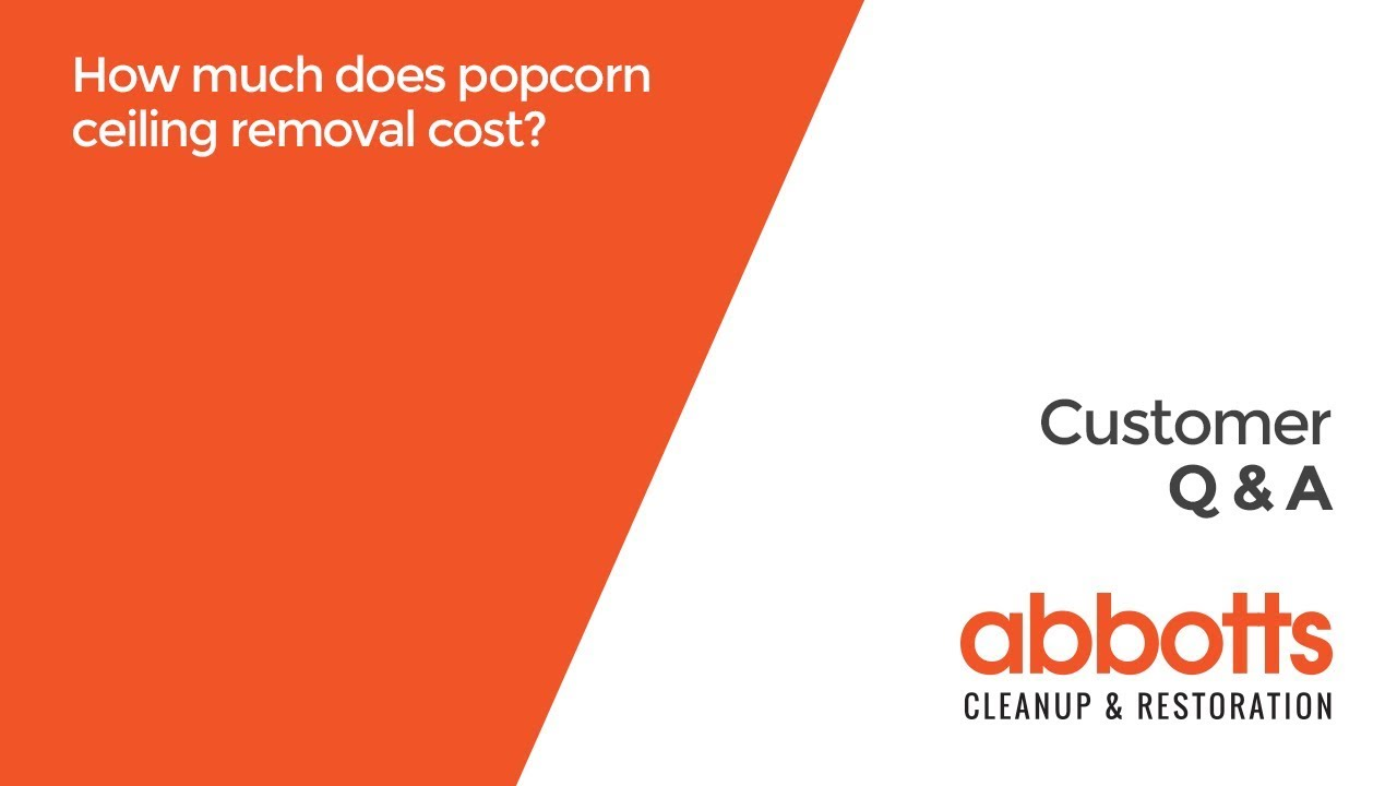 How much does popcorn ceiling removal cost? - YouTube