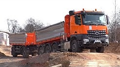 Mercedes Arocs tridem with trailer