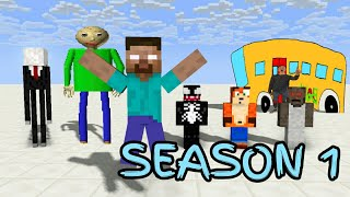 - Monster School SEASON 1 ALL EPISODE Minecraft Animation