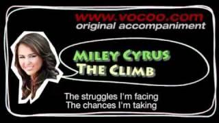 Miley Cyrus - The Climb  (Karaoke/original accompaniment / Instrumental / lyrics)