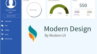 Modern Dashboard UI [vb.net] [c#]
