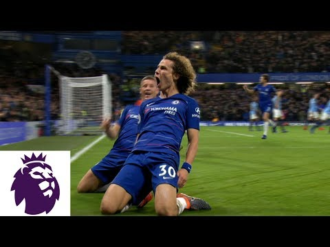 David Luiz's fantastic header doubles Chelsea's lead against Man City | Premier League | NBC Sports