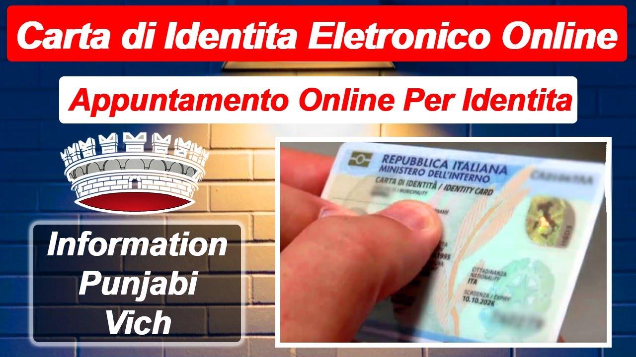Appuntamento Per Carta di Identita Elettronica Online in ...