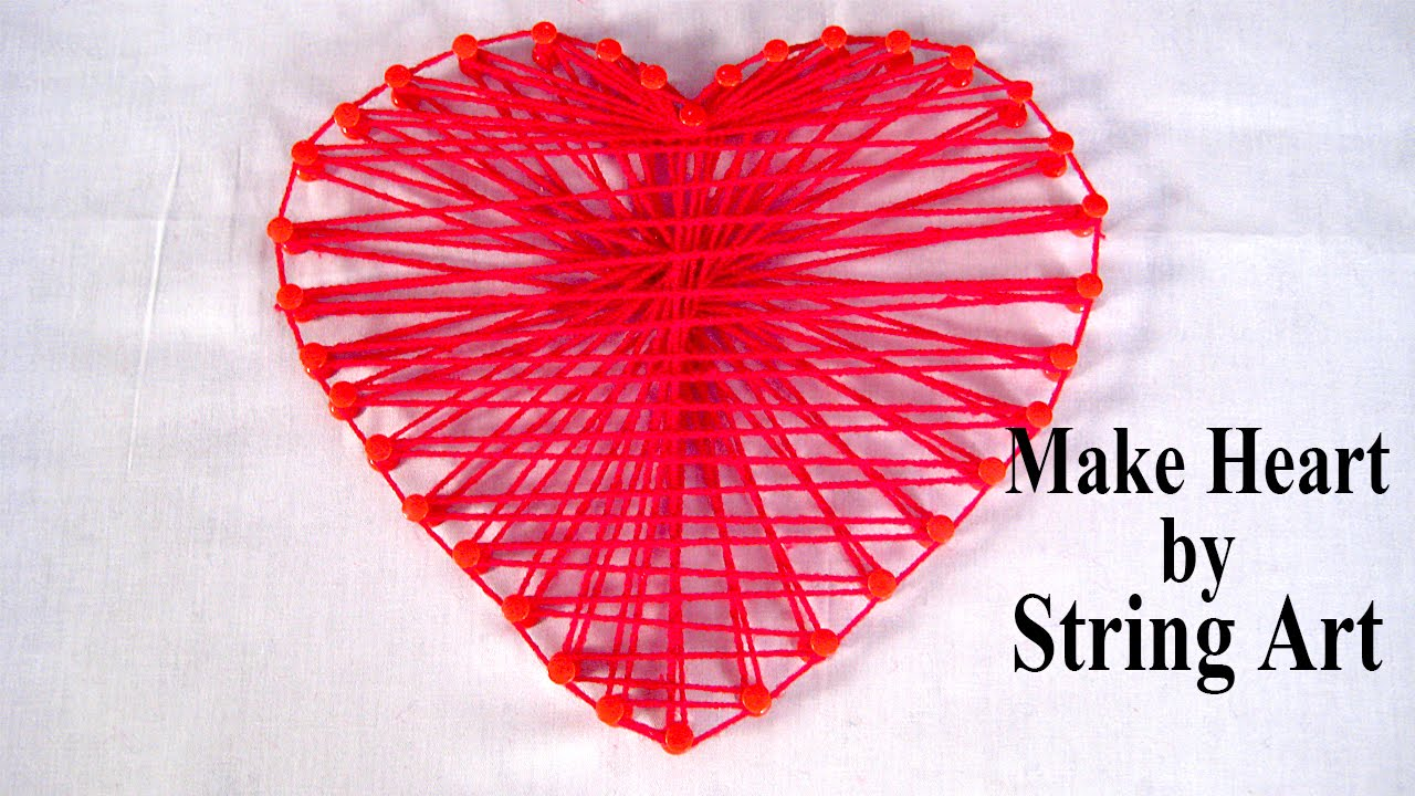 string art patterns how to make string art heart pattern by sonia goyal youtube. Black Bedroom Furniture Sets. Home Design Ideas