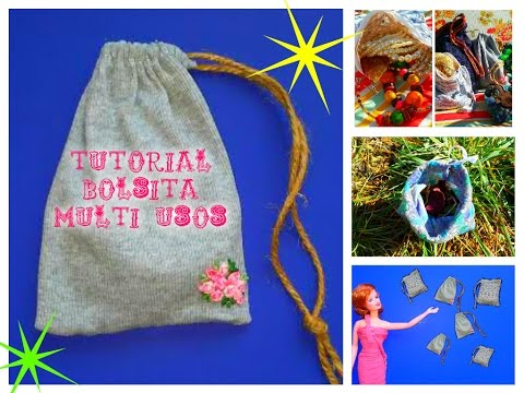 BOLSa MULTIUSOS SUPER FACIL! TUTORIAL PASO A PASO.