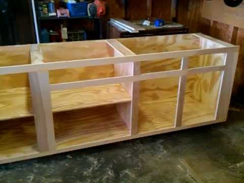 Homemade cabinets  4  YouTube