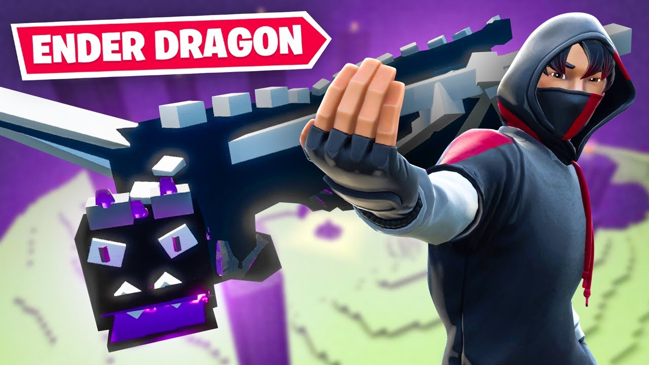 Fighting the ENDER DRAGON... In FORTNITE! thumbnail