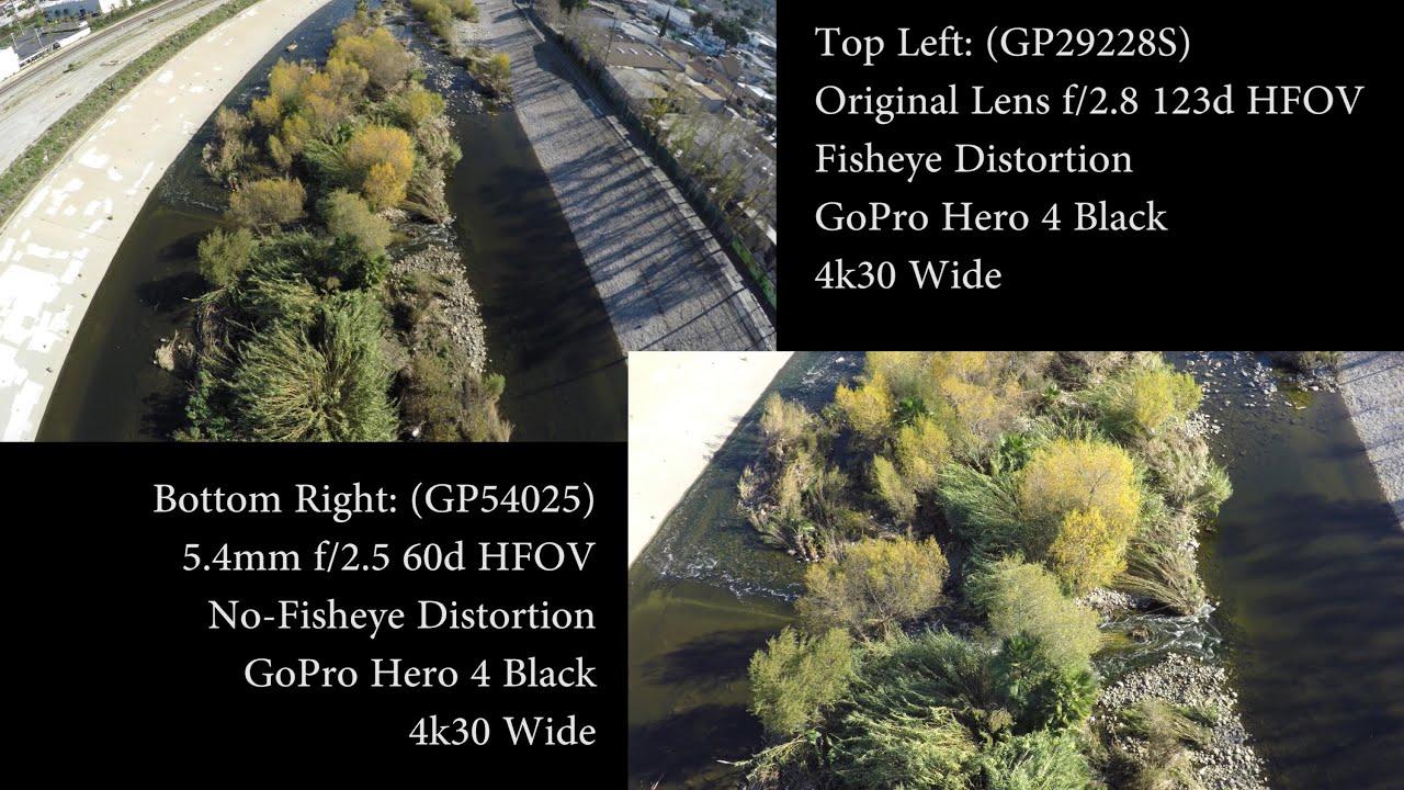Gopro Hero 5 Vs Hero 4 >> Lens Compare: GoPro Hero 4 Black No-Fisheye 5.4mm vs Stock - Area Of Interest - River - YouTube