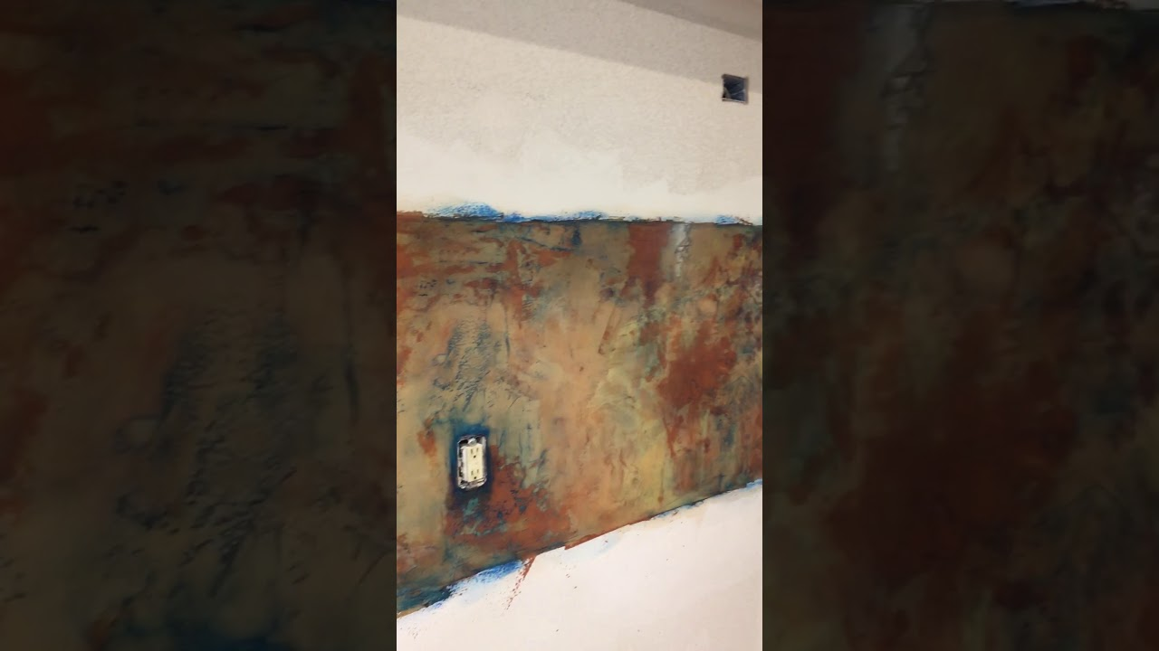 Venetian Plaster Kitchen Backsplash Youtube