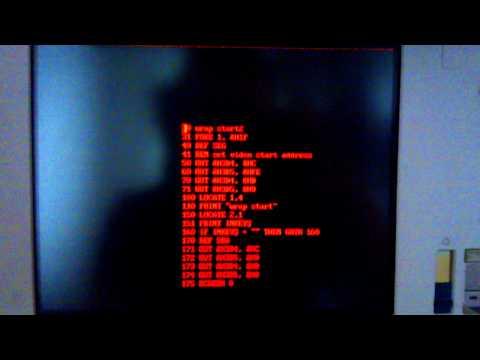 VGA buffer wrap test with IBM Businessman P70